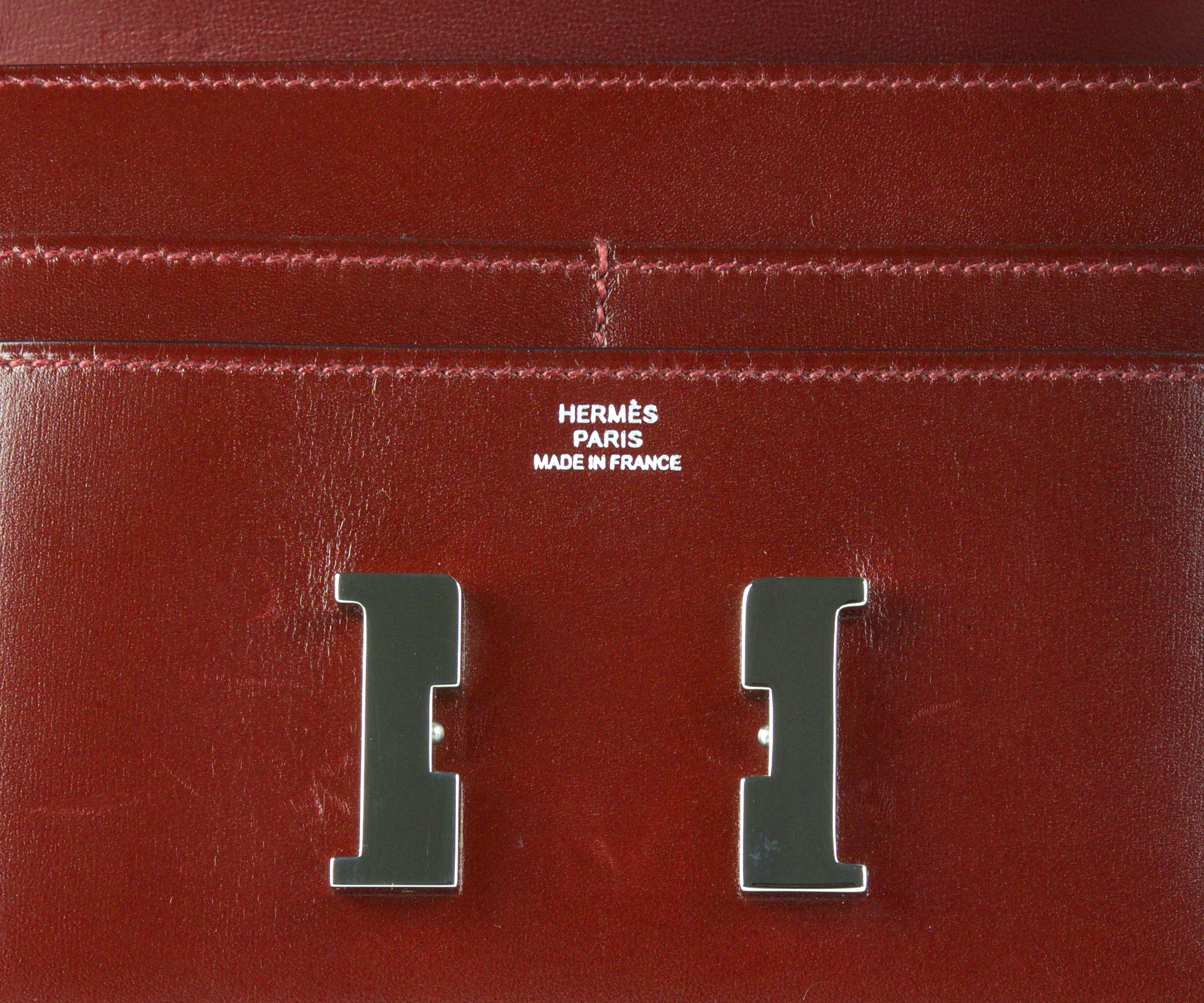 Constance Wallet Rouge Box 13cm with Palladium