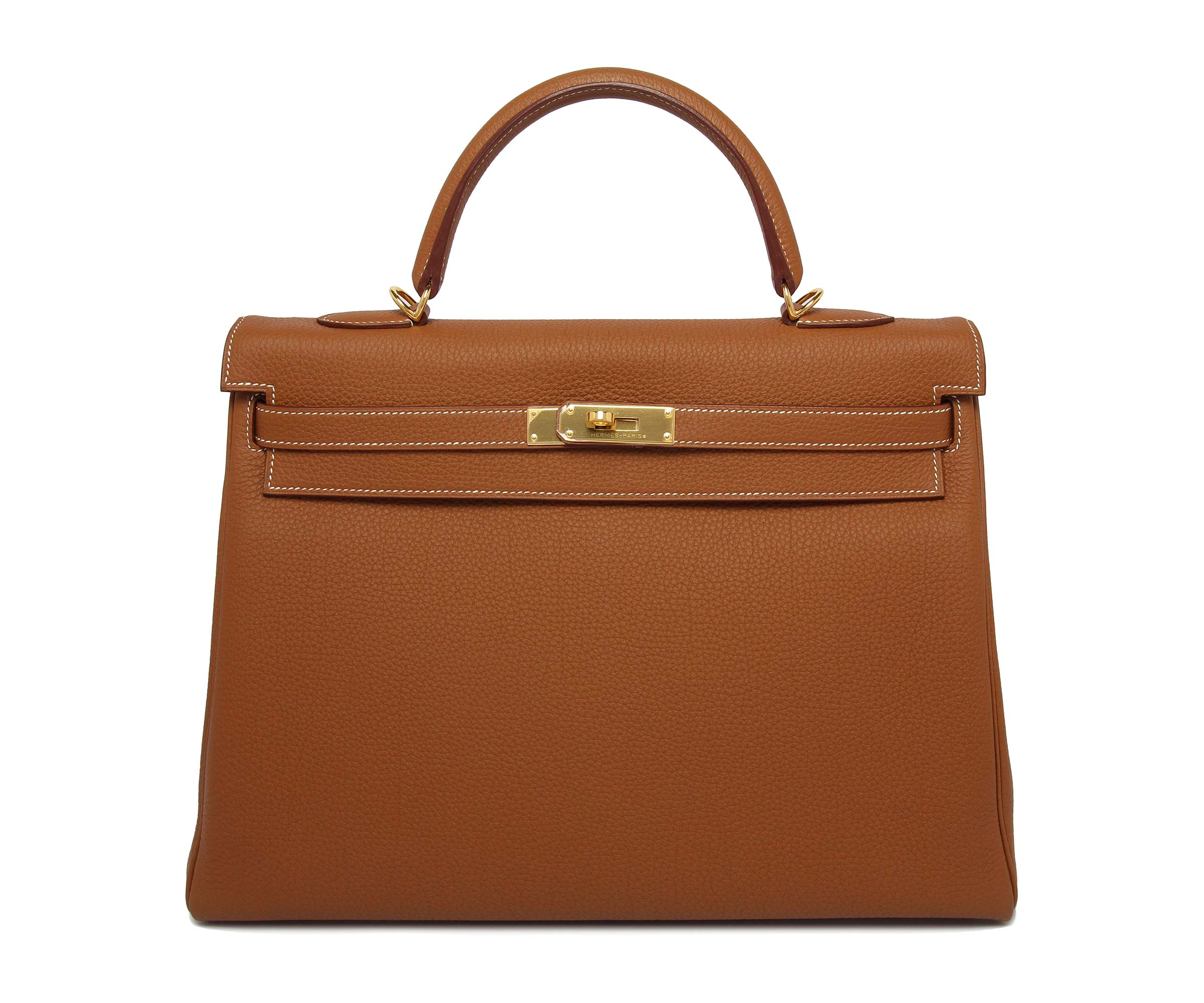 Hermes Kelly Gold Togo with Gold