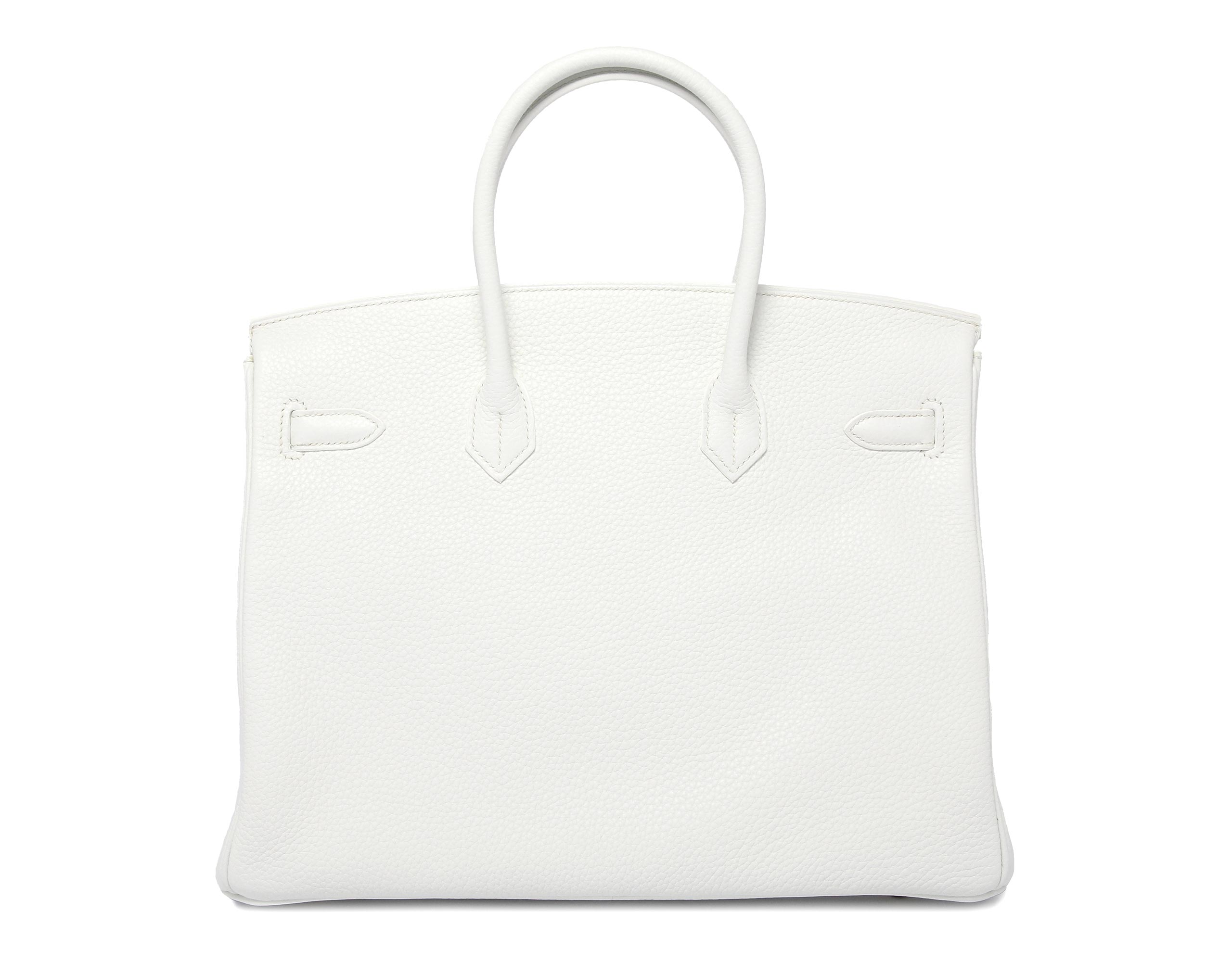 Hermes Birkin White Clemence with Gold
