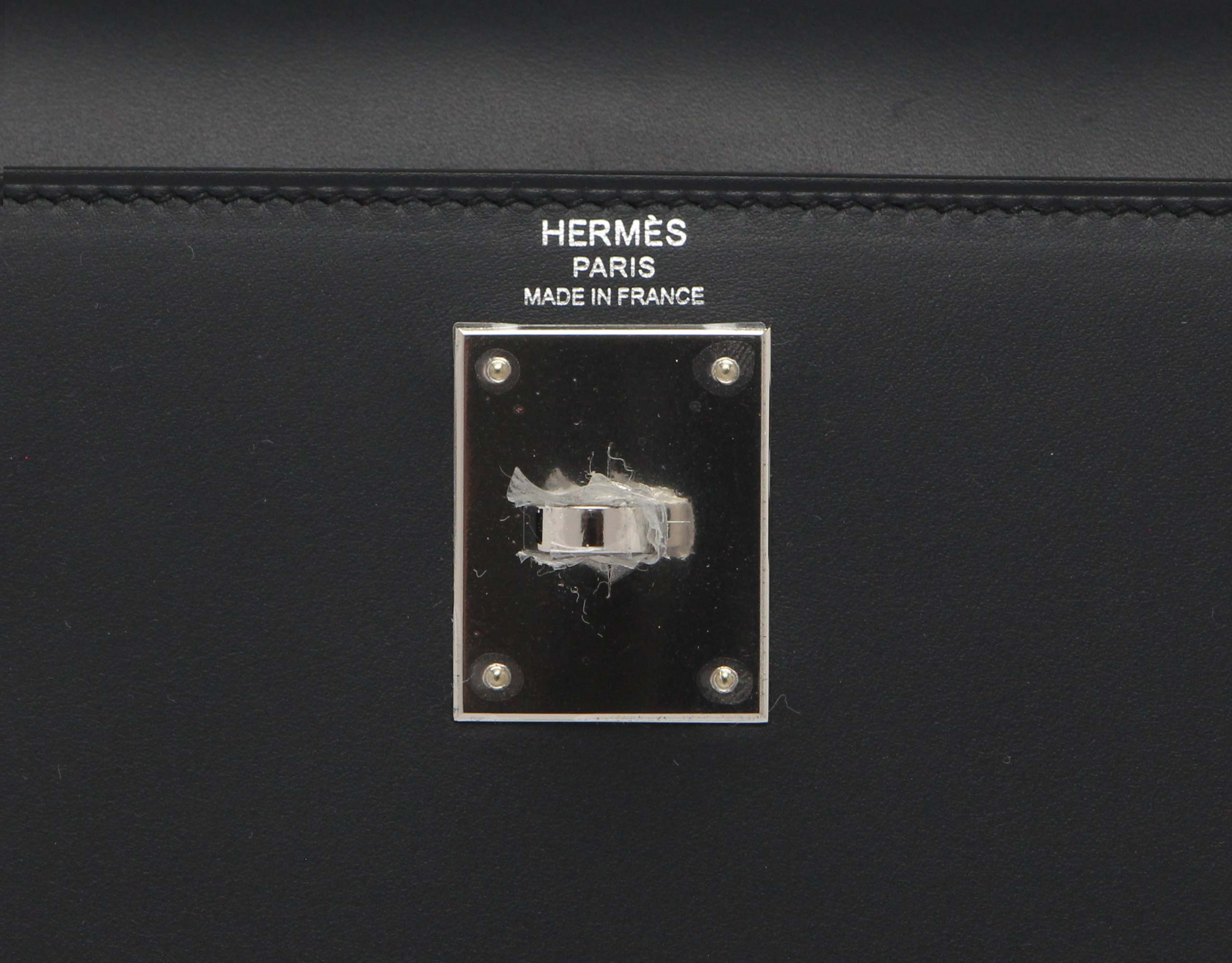 Hermes Kelly Blue Obscure Sombrero with Palladium