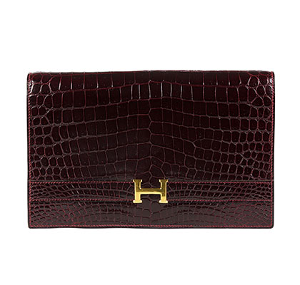 Hermes Sac Annie Bordeaux with Gold