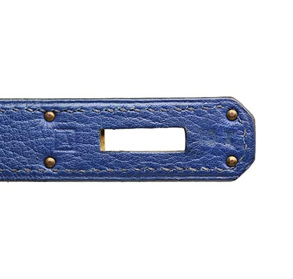 Hermes Kelly French Blue with Gold