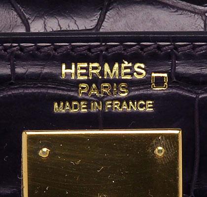Hermes Kelly Prunoir Matt Aligator with Palladium