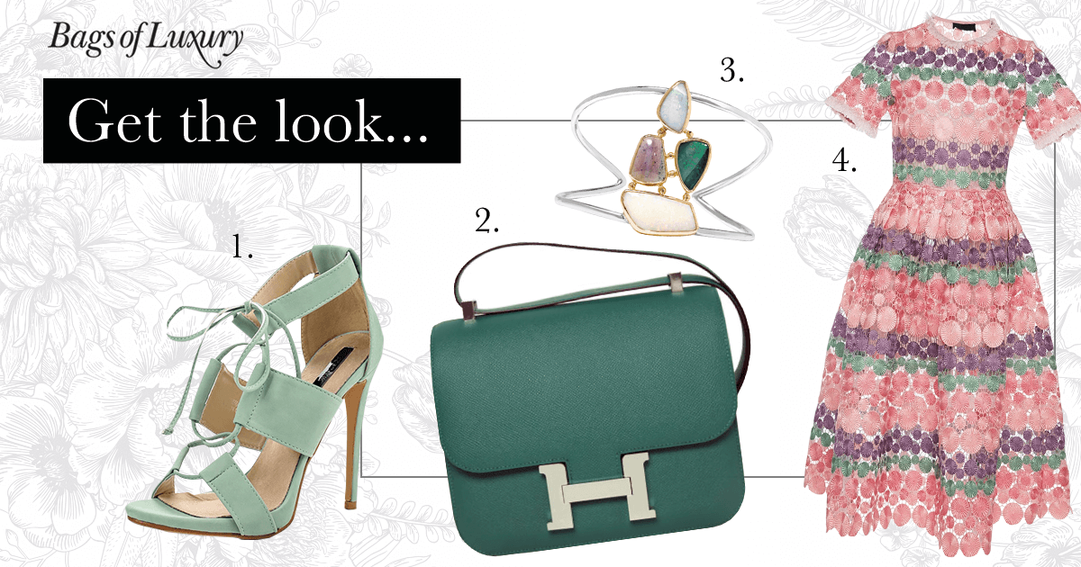 Bags of Luxury - Hermes Constace summer wedding style
