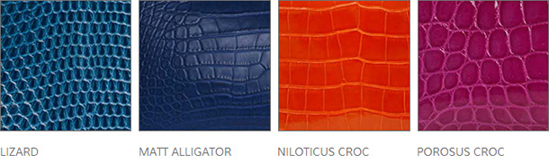Hermes exotic skins and exotic leathers