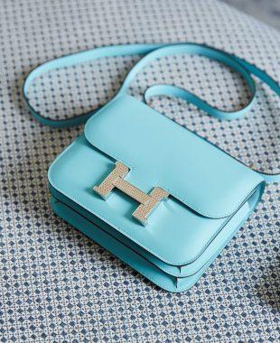 Hermes Handbag Size Guide: Blue Constance Mini
