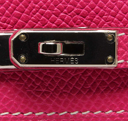 Vintage Kelly Rose Tyrien Epsom with Palladium. Stamp: O Square 2011