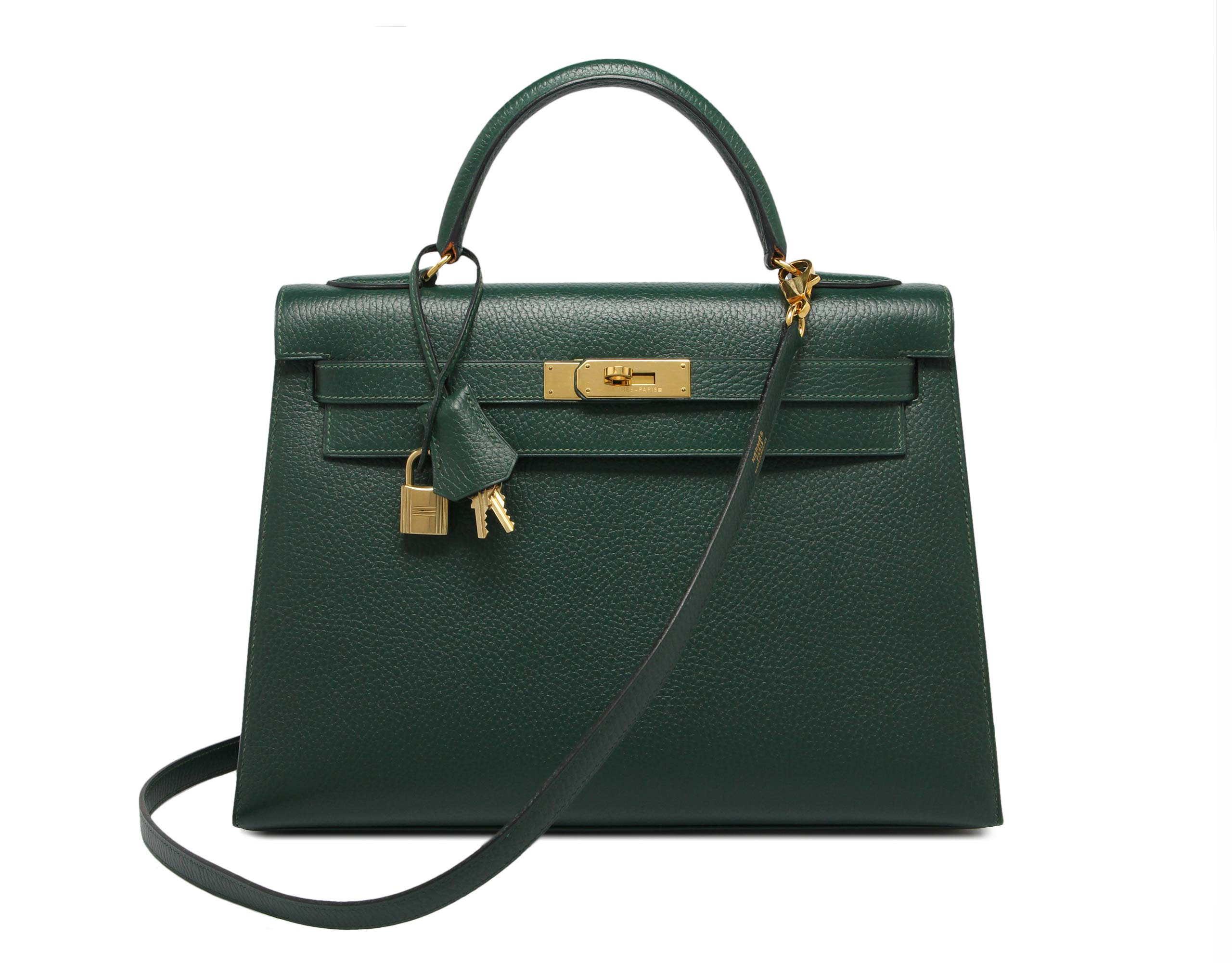 32cm Kelly Vert Clair Ardennes with Gold Hardware